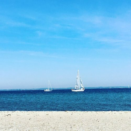 Strand On The Beach Baltic Sea Schleswig-Holstein Water Beach Schiffe Boats Sunshine