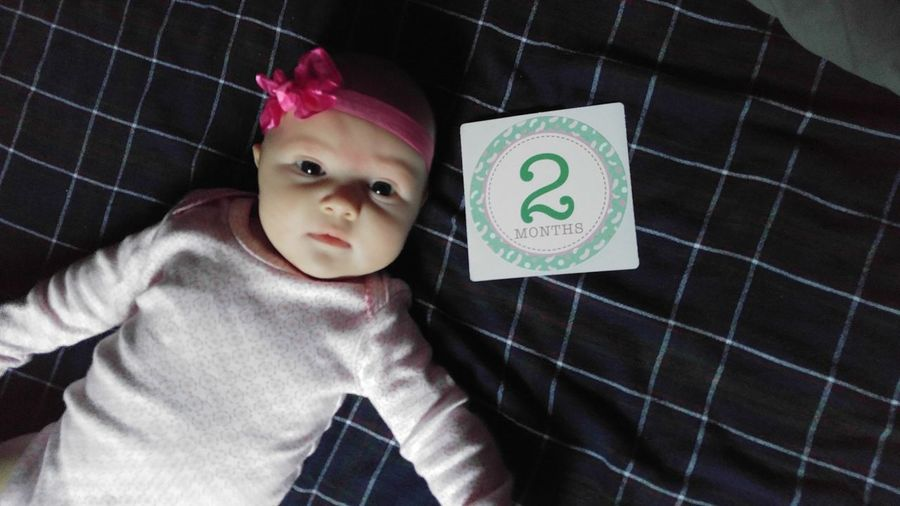 My 2 month old princess 👶💖🎀😍😍 CadmenJayde 2monthsold MommysGirl Taking Photos Today's Hot Look Babygirl New Hello World Popular Photos Looking At Camera Check This Out MyBabyGirl