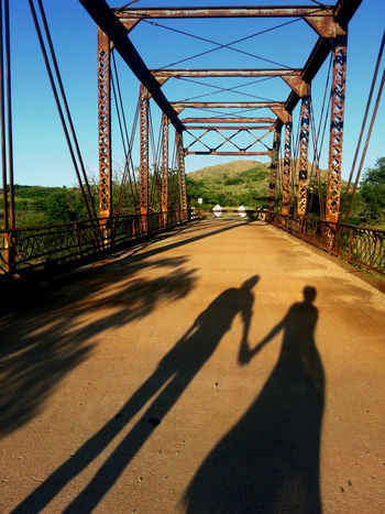 Romantic Bridge - Man Made Structure Built Structure Connection Couple - Relationship Day Nature No People Outdoors Shadow Sky Sunlight Tree