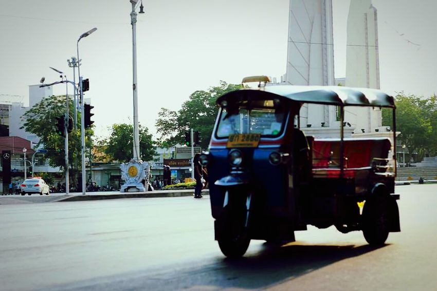 City Day Outdoors People Photography Road Road Sign Car Ride  Thailand Only Tuktuk Thailand