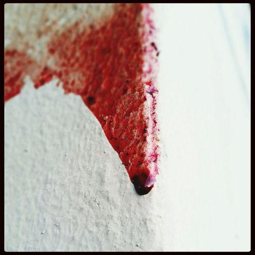 Quite possibly a crime scene. Blood Viscera Terror Injury