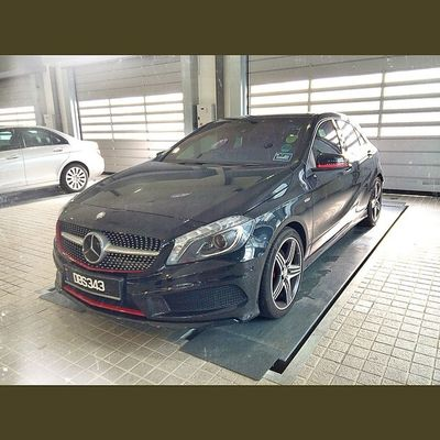 Pre Inspection Bay Mercedes Mercedesbenz Aclass W176 A250 Sport engineered by AMG AclubMalaysia MBSHOOTOUT ClubAKlasse ig_mbenz DBS343