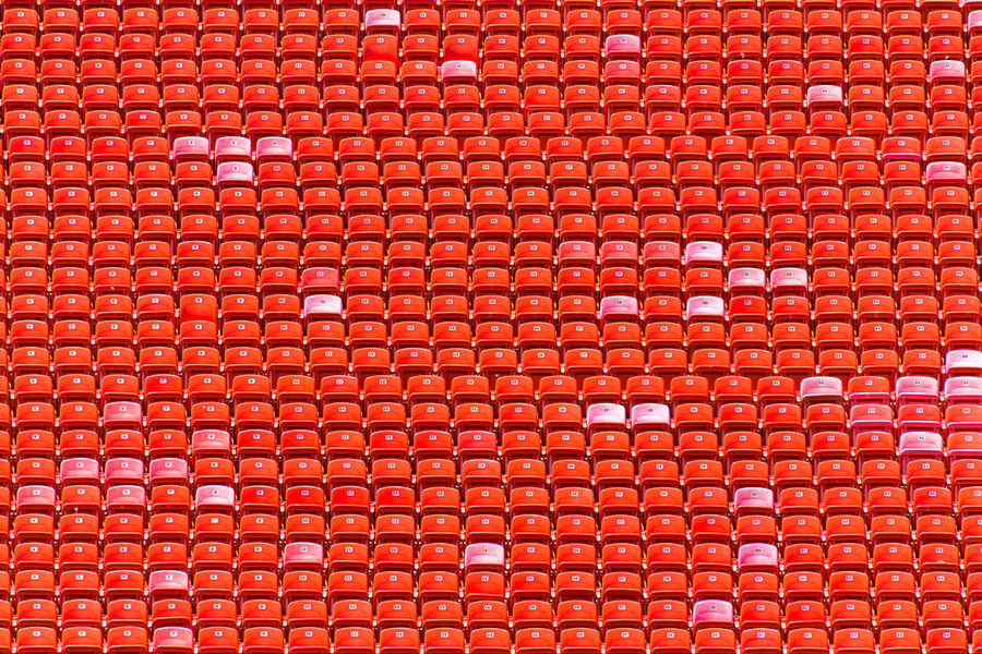 Copy Space Abstract Architecture Backgrounds Built Structure Close-up Day Full Frame Minimalism No People Outdoors Pattern Red Repetition Sport Stadium Team Sport Textile Textured  Vibrant Color Wall