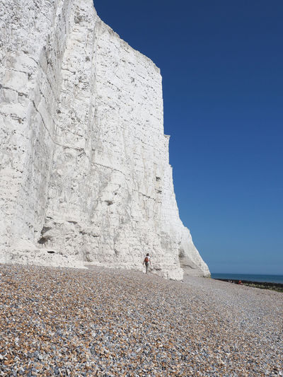 Brighton Seven Sisters Seven Sisters Cliffs English Coastline England Great Britain Sky Clear Sky Nature Day Rock Real People Solid Rock Formation Leisure Activity Rock - Object Beauty In Nature Mountain Cliff Coast Coastline