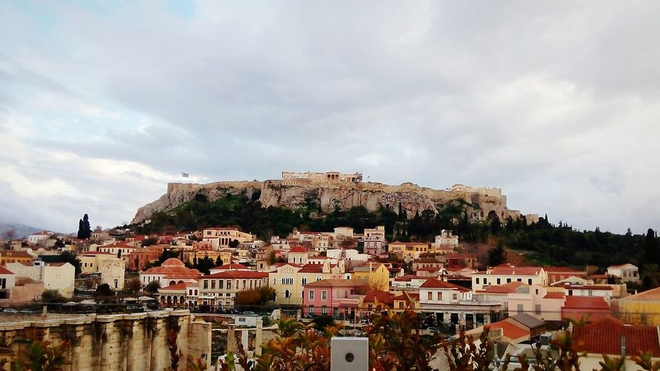 Citadel Acropolis, Athens Parthenon Athena Temple Zeus Cariatides House History Greek Flag Cloud - Sky RainyDay First Eyeem Photo EyeEmNewHere Adapted To The City The City Light The Street Photographer - 2017 EyeEm Awards Your Ticket To Europe The Week On EyeEm