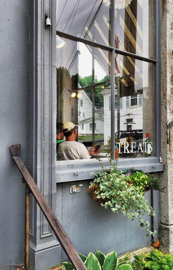 Window In The Window Taking Photos Local Shops Downtown Maine Carol Sharkey Photography