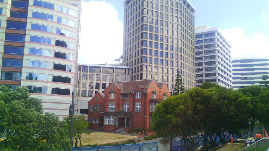 A hobbit surrounded by giants! Architecture Buildings Brick Building Old Buildings Wellington