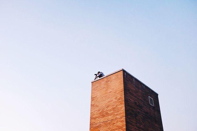 Edged NYC Rooftop Hello World High Life Brick Wall First Eyeem Photo Welcome Weekly