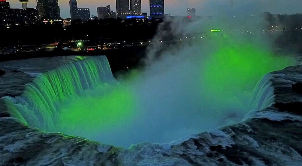 Niagara Falls Outdoors City Travel Destinations No People Water Waterfall DJI Mavic Pro Aerial View Green Color Dronephotography The Week On EyeEm