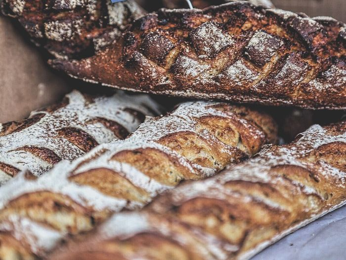 Selective Focus Food Foodphotography Marketplace Still Life Produce Still Life Photography Food Photography Bread Breakfast Time Bakery Baking OvenBaked Patterns Pattern, Texture, Shape And Form Baked Goods Breads Wheat Wheat Flour Flour Bread Pieces Baugette Foodmarket Farmers Market