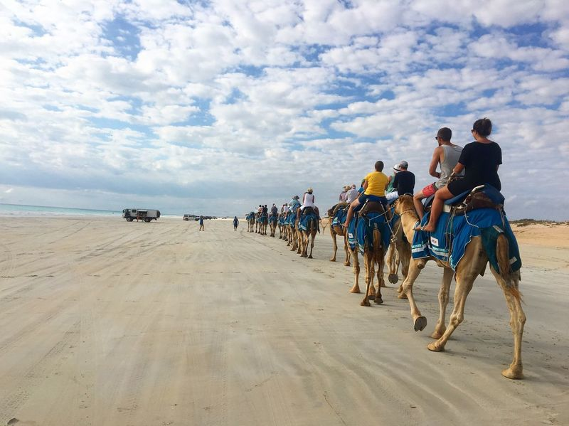 Camel Camelride CableBeach Enjoying Life That's Me Skyline Horizon Horizon Over Land Travel Sand