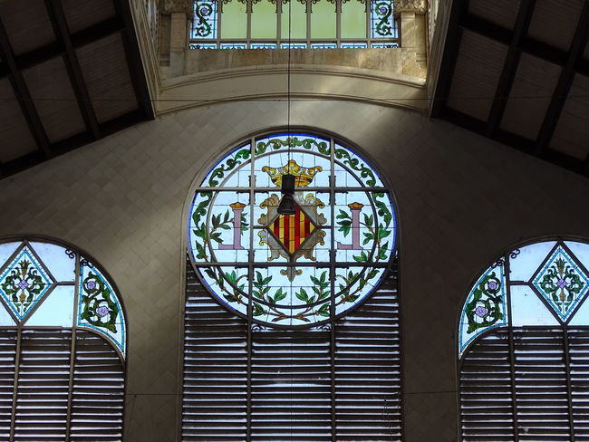 Window Architecture No People Indoors  Illuminated Taking Photos Popular Photos SPAIN Architecture Modernist Architecture València Mercat Central Valencia Enjoying Life