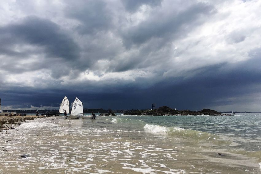 The calm before the storm... Water Cloud - Sky Beauty In Nature Storm Cloud Dramatic Sky Capture The Moment Vibrant Color Capturing Freedom Beauty In Nature Life Is A Beach Boat Storm