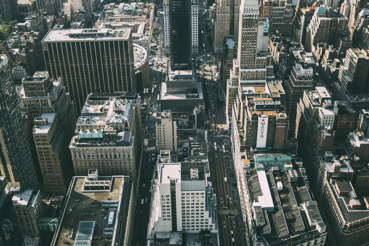 City Cityscape Architecture Street Aerial High Outdoors Aerial View Skyscraper Tall - High Tower