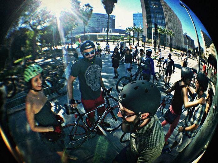 Friends Sunshine Biking CicLAVia