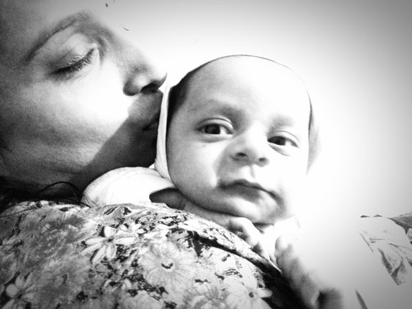 Baby Portrait Togetherness Mother Family Love New Life Mobile Photography Mobilephotography Mobilephoto Close-up Motherhood Mother And Child Mother's Love