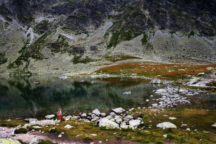 Autumn Dolina Hińczowa Hiking Hińczowe Stawy Tatra Mountains Tatry Adventure Autumn🍁🍁🍁 Beauty In Nature High Tatras Hiker Lake Leisure Activity Mountain Mountains Scenics Tranquil Scene Water The Week On EyeEm Rocky Mountains Reflection An Eye For Travel Go Higher Summer Exploratorium