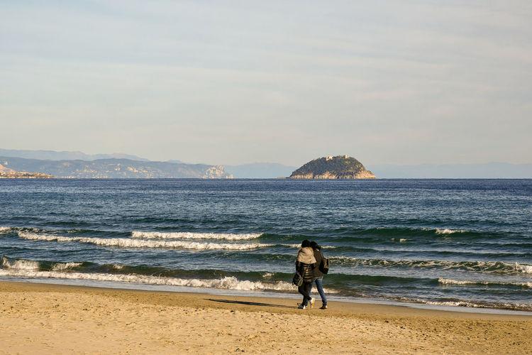 Winter beach,