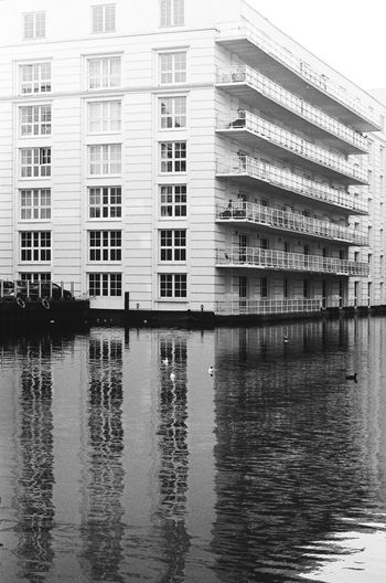 Architecture Film London London lifestyle Reflection Water Reflections Architectural Feature Architecture Building Exterior Built Structure Camden City Day Film Photography No People Outdoors Reflections Reflections In The Water Street Street Photography Streetphoto_bw Streetphotography Symmetry Waterfront Waterway