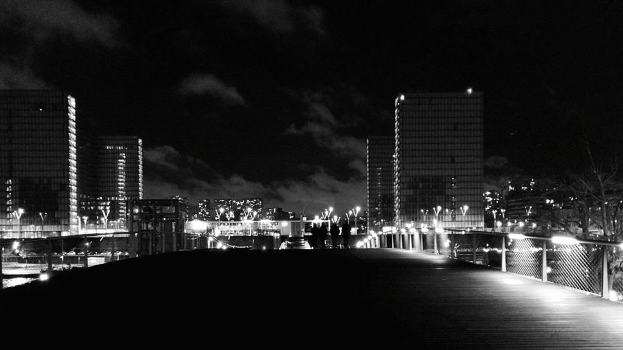 Nightphotography Streetphotography Blackandwhite Bridge