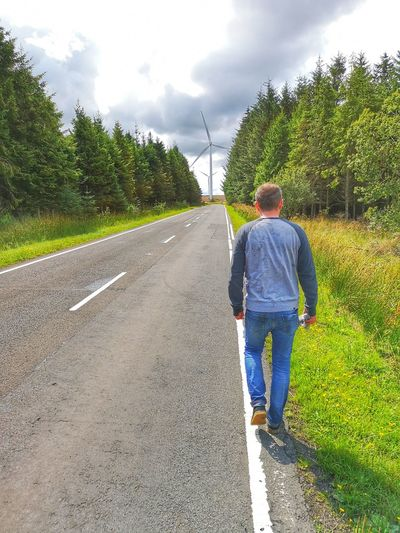 Tree Politics And Government Full Length Men Rear View Standing Jeans Rural Scene Sky Casual Clothing