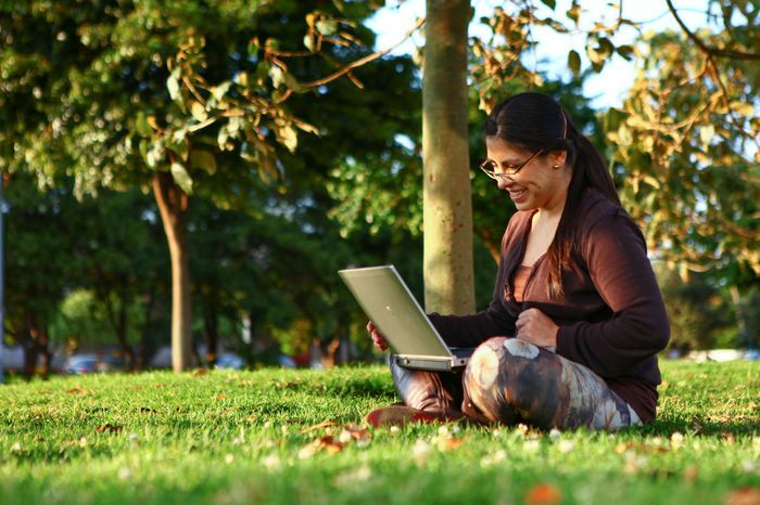 office at park Office Work Working Outdoor Office EyeEm Selects Laptop Using Laptop Wireless Technology Mature Adult Adult Technology Tree One Person Only Women One Mature Woman Only Sitting Grass Adults Only One Woman Only Communication Eyeglasses  People Concentration Mature Women Internet