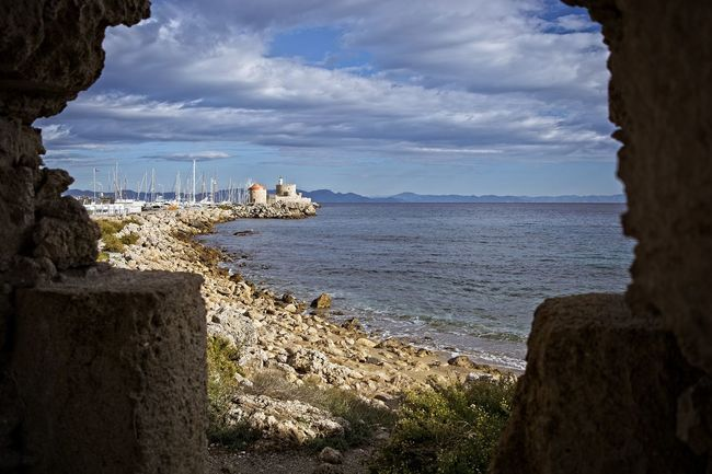view through ancient walls Framed View Travel Photography Beauty In Nature Cloud - Sky Day Horizon Over Water Nature No People Outdoors Rock - Object Scenics Sea Sky Tourist Destination Tourisum Tranquil Scene Tranquility Travel Destinations Water