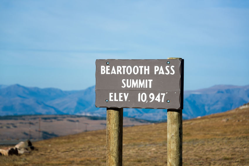 View of the Beartooth Pass Summit at an elevation of 10,947 feet above sea level Alpine Montana National Park Shoshone Travel Tundra USA Wanderlust Wyoming Beartooth Destination Forest Highway Landscape Mountain Mountains Nature Overlook Peaks Plateau Range Redlodge Scenics Valley Wilderness