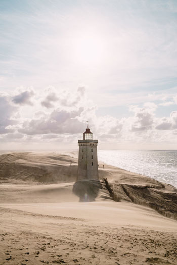 Sandstorm at the lighthouse Rubjerg Knude in North Jutland, Denmark Beauty In Nature Denmark Landmark Lighthouse Nature Nature North Jutland Outdoors Rubjerg Knude Sandstorm Sea Sky