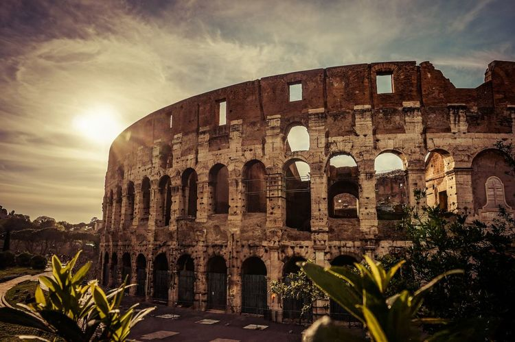 Rome Architecture Colloseum History Italy Old Ruin Sunset Tourism Travel