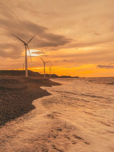 Bangui WindMills Environmental Conservation Cloud - Sky Scenics - Nature Beauty In Nature Beach Environment Alternative Energy Wind Power Nature