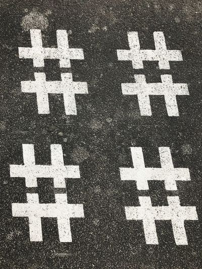 HASHTAG Tipography No People Asphalt High Angle View Road Full Frame Outdoors Day Hopscotch Childhood Close-up