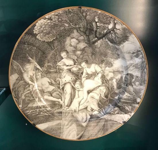 Antique European ceramic plate. British Museum London Circles Circle Ceramics Ceramic European History Old Civilization Art Plates Plate