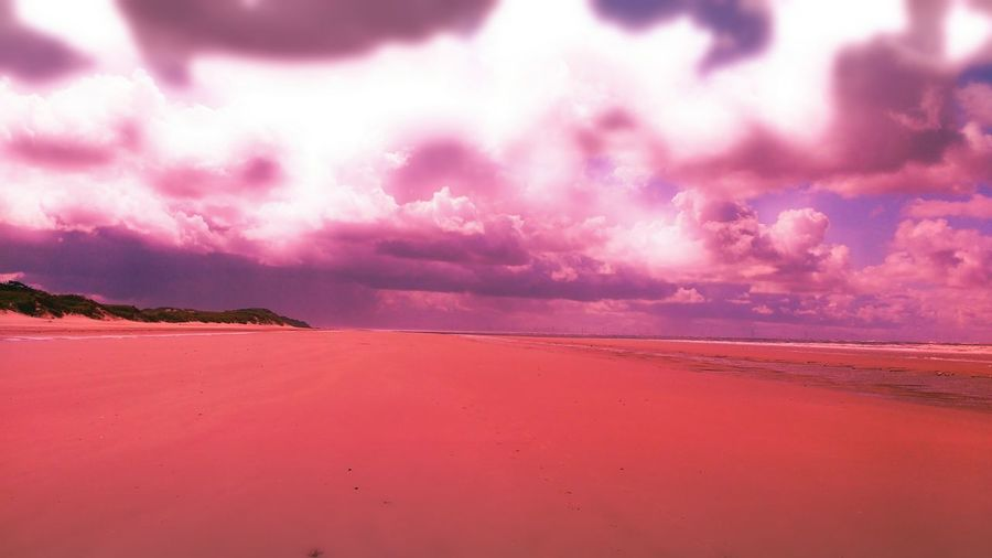EyeEm Selects Dreamy Pink Wash Pink Filter Glow Sunny Sun Sea Sunset Beach Low Tide Sand Summer Red Flamingo Pink Color