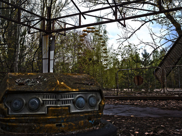 Abandoned Abandoned Places Auto Scooter Bumper Cars Car Chernobyl Damaged Fair Ferris Wheel HDR Lost Places No People Outdoors Pripyat Riesenrad Run-down Scooter Verlassene Orte The Street Photographer - 2017 EyeEm Awards Live For The Story