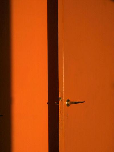 Detail Shot Of Closed Door
