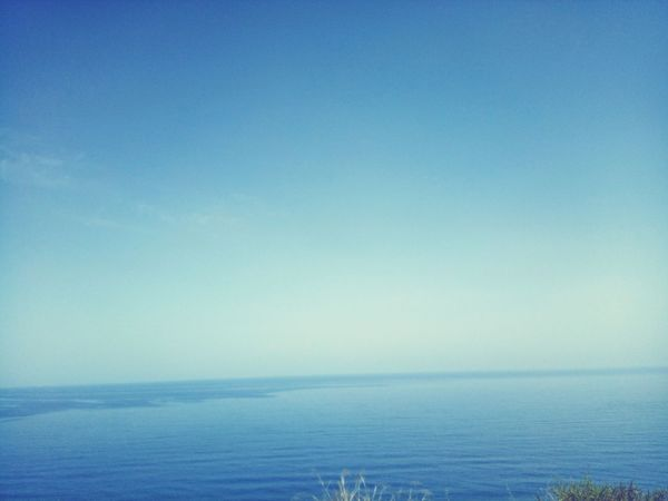 Sea Horizon Over Water Water Tranquility Nature Day No People Clear Sky Sky Beauty In Nature Sky Wave Beautiful Blue Sun Algeria Tipaza Tourism Cloud - Sky Travel Destinations Vacations Voyages Sea And Sky