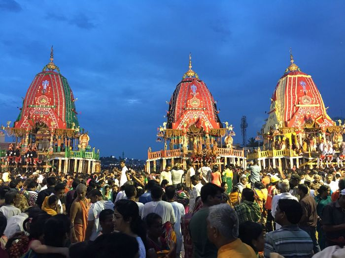 The Three Chariots, Rathyatra at Puri, India Religion Tourism Spirituality Tourist Place Of Worship Travel Destinations Famous Place Travel History Rathyatra2016