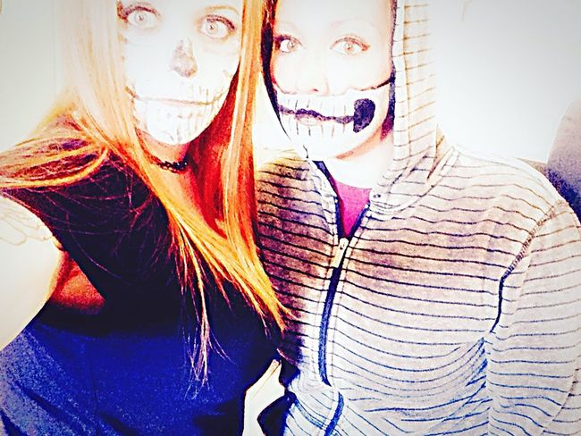 Bff❤ Halloween 2015  😚 Fun At Work Enjoying Life Sugarskull