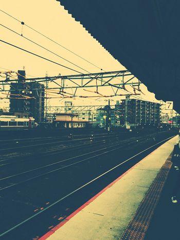 色々ギリギリです。帰ります。🚃👋 Public Transportation Railway Station Train Station