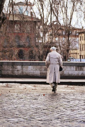 He never ceased waiting for her. Rome Rome Italy Travel Destinations Travel Travel Photography Turism Turistic Places Turist Tevere Oldman Full Length Women Young Women Winter Rear View Walking Standing Snowcapped Rainy Season Overcoat Trench Coat Fall Rain Rainfall RainDrop Umbrella Weather Season  Wet Drop