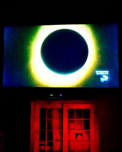 The 'eye' of an eclipse as seen from my tv... Eye Eclipse Eye Em Watching Eye Spy Electronic Art