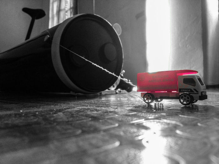 Toy Transportation Monochrome Blackandwhite Photography Dualtone Toyphotography Toys Toy Threads That Tell A Story Celestron Telescope Pink Imagination Creative Light And Shadow Color Photography