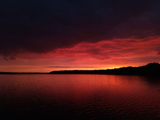 darkness Coloredclouds Ripples Tranquility Midnight Horizon Lakeshore Shadow Shade Clouda Water Sunset Red Lake Reflection Sky Horizon Over Water Landscape Low Tide Tide Coast Coastline Romantic Sky Dramatic Sky Silhouette Moody Sky Seascape Atmospheric Mood Majestic Orange Color Sky Only