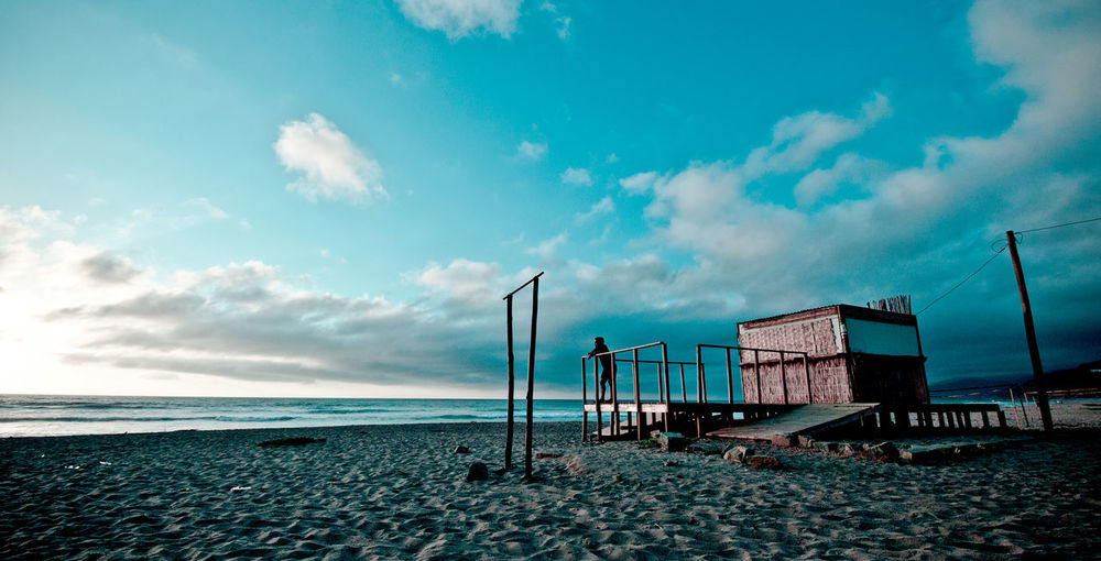"""""""Maitencillo"""" Beach Beach Volleyball Childhood Cloud - Sky Day Horizon Over Water Nature One Person Outdoors People Real People Sand Sea Sky Water Summer Exploratorium"""