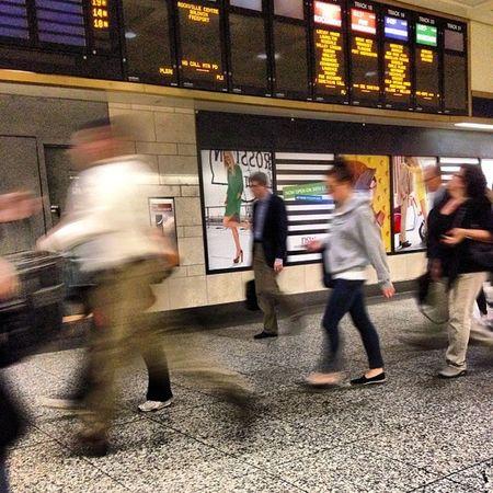 Gotta make my train!.... #pennstation #nyc #running Running Pennstation NYC