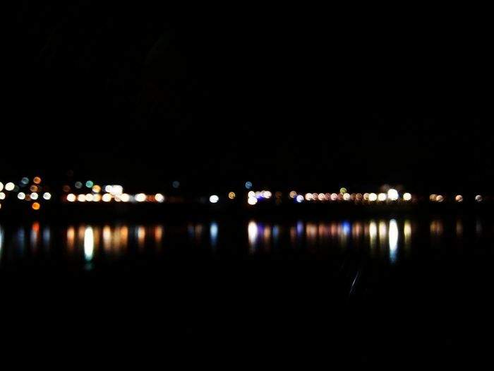 Reflection Night Illuminated River Water No People Outdoors City Cityscape Sky Nature