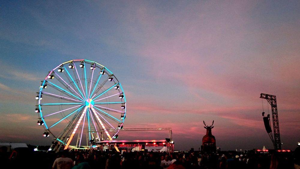 Festival Ferris Wheel Sunset Sky Silhouette Night