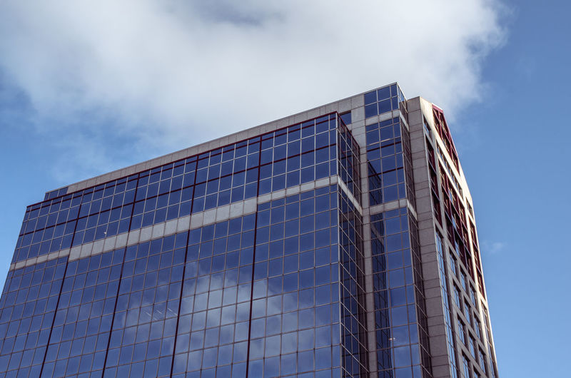 Architecture Blue Building Building Exterior Built Structure City Cloud Cloud - Sky Day Glass Glass - Material Here Belongs To Me Low Angle View Modern Office Building Outdoors Pattern Pieces Reflection Sky Skyscraper Tall - High Tower Urban Geometry Urban Landscape Urbex