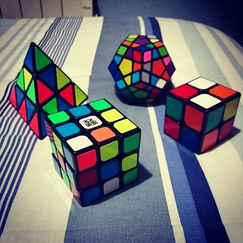 CuboRubik Cubo Moyu Pyraminx Dayan Shengsou Multi Colored Toy Block Colourd Puzzle  Hobby Black Green White Blue Red Orange Photo Photography No People